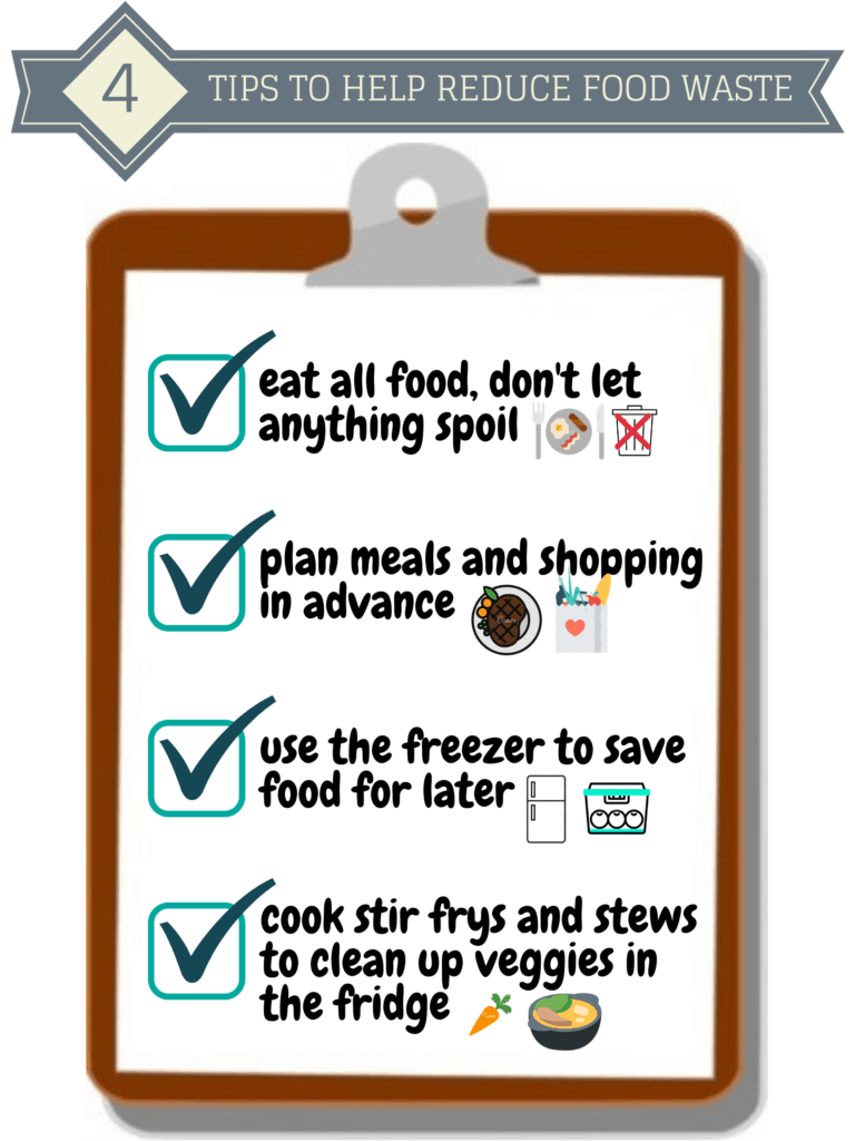 4 tips to help reduce food waste