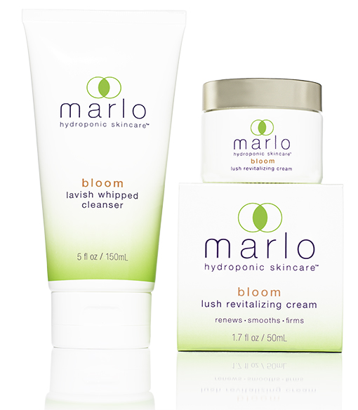 marlo bloom cleanser and cream packaging